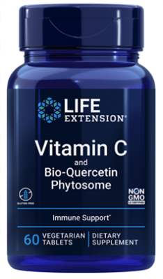 Vitamin C and Bio-Quercetin Phytosome (1000 mg, 60 vegetarian capsules)