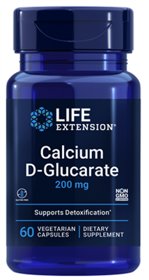 Calcium D-Glucarate (200 mg, 60 vegetarian capsules)