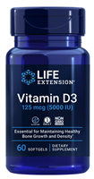 Vitamin D3 (125 mcg (5000 IU), 60 softgels)