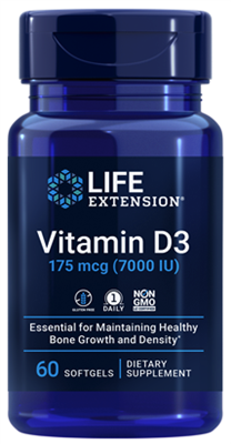 Vitamin D3 (175 mcg (7000 IU), 60 softgels)