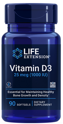 Vitamin D3 (25 mcg (1000 IU), 90 softgels)