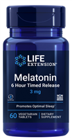 Melatonin 6 Hour Timed Release (3 mg, 60 vegetarian tablets)