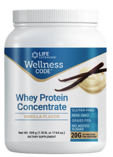 Wellness Code® Whey Protein Concentrate (Vanilla) (500 grams)