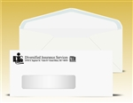 # 10 Window Envelopes with latex self seal, 1 color print (Black), # 11040P-SS