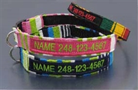 Maya Personalized Embroidered Dog Collars: Traditional