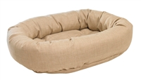 Bowsers Donut Dog Bed Flax Microvelvet: Free Shipping
