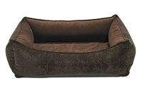 Bowsers Oslo Ortho Dog Bed Chocolate Bones: Free Shipping