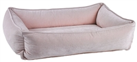 Bowsers Urban Lounger Dog Bed Blush Microvelvet: Free Shipping