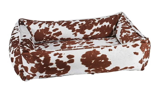 Bowsers Urban Lounger Dog Bed Durango Microvelvet: Free Shipping