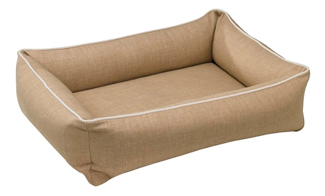 Bowsers Urban Lounger Dog Bed Flax Microvelvet: Free Shipping