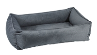 Bowsers Urban Lounger Dog Bed Flint Microvelvet: Free Shipping