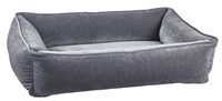 Bowsers Urban Lounger Dog Bed Pumice Microvelvet: Free Shipping