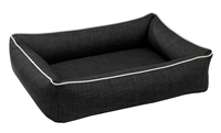 Bowsers Urban Lounger Dog Bed Storm  Microvelvet: Free Shipping