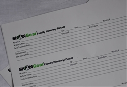 Pet Information Form/Family Itinerary Small 60/pk