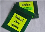 Pouch, Medical Detail 3x3  5/pk