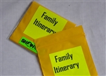 Pouch, Family Itinerary 3x3  5/pk