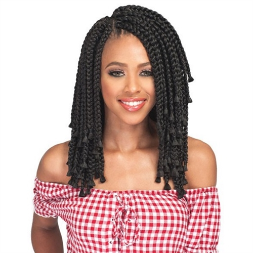 Bobbi Boss Synthetic African Roots Bomba Box Braid Blunt Tips