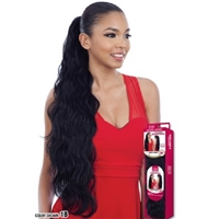 Glamourtress, wigs, weaves, braids, half wigs, full cap, hair, lace front, hair extension, nicki minaj style, Brazilian hair, crochet, hairdo, wig tape, remy hair, Lace Front Wigs, Remy Hair, Model Model Equal Drawstring Ponytail - BODY WAVE 30""