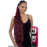 Glamourtress, wigs, weaves, braids, half wigs, full cap, hair, lace front, hair extension, nicki minaj style, Brazilian hair, crochet, hairdo, wig tape, remy hair, Lace Front Wigs, Remy Hair, Model Model Equal Drawstring Ponytail - BODY WAVE 36""