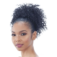 Glamourtress, wigs, weaves, braids, half wigs, full cap, hair, lace front, hair extension, nicki minaj style, Brazilian hair, crochet, hairdo, wig tape, remy hair, Lace Front Wigs, Model Model Pom Pom Synthetic Drawstring Ponytail - BOHO POM