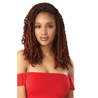 Glamourtress, wigs, weaves, braids, half wigs, full cap, hair, lace front, hair extension, nicki minaj style, Brazilian hair, crochet, hairdo, wig tape, remy hair, Lace Front Wigs, Outre Synthetic Braid - X PRESSION TWISTED UP WAVY BOMB TWIST 18""