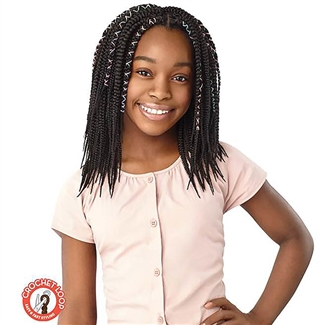 Glamourtress, wigs, weaves, braids, half wigs, full cap, hair, lace front, hair extension, nicki minaj style, Brazilian hair, crochet, hairdo, wig tape, remy hair, Lace Front Wigs, Outre Synthetic Braid LIL Looks - X PRESSION CROCHET BRAID - BOX BRAID 10""