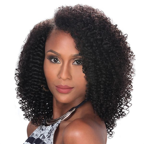Zury Naturali Star 100 Human Hair 9pc Clip Go 3c Curly 12