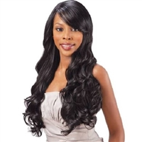 Glamourtress, wigs, weaves, braids, half wigs, full cap, hair, lace front, hair extension, nicki minaj style, Brazilian hair, crochet, hairdo, Shake-N-Go Freetress Equal Synthetic Hair Clip-In - Lace Swept Side Bang