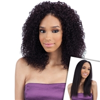 Glamourtress, wigs, weaves, braids, half wigs, full cap, hair, lace front, hair extension, nicki minaj style, Brazilian hair, crochet, hairdo, wig tape, remy hair, Lace Front Wigs, Remy Hair, Human Hair, Unprocessed Naked Nature Wet&Wavy BohemianCurl 7PCS