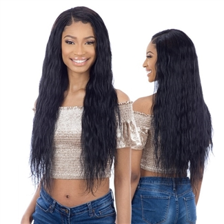 Glamourtress, wigs, weaves, braids, half wigs, full cap, hair, lace front, hair extension, nicki minaj style, Brazilian hair, crochet, hairdo, wig tape, remy hair, Lace Front Wigs, Remy Hair, Shake-N-Go Organique Mastermix Weave - FRENCH WAVE 24""