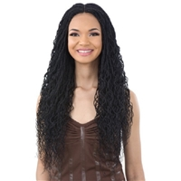 Glamourtress, wigs, weaves, braids, half wigs, full cap, hair, lace front, hair extension, nicki minaj style, Brazilian hair, crochet, hairdo, wig tape, remy hair,Freetress Equal Synthetic Hand Tied Lace Part Braided Lace Wig - CURLY MILLION TWIST