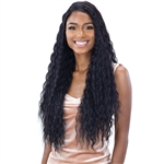 Glamourtress, wigs, weaves, braids, half wigs, full cap, hair, lace front, hair extension, nicki minaj style, Brazilian hair, crochet, hairdo, wig tape, remy hair, Freetress Equal Lace & Lace Synthetic Hair Lace Front Wig - DEEP WAVER 002