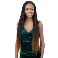 Glamourtress, wigs, weaves, braids, half wigs, full cap, hair, lace front, hair extension, nicki minaj style, Brazilian hair, crochet, hairdo, wig tape, remy hair,Freetress Equal Synthetic 4x4 Lace Part Braided Lace Wig - MICRO MILLION TWIST 30""