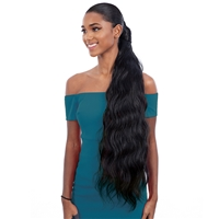 Glamourtress, wigs, weaves, braids, half wigs, full cap, hair, lace front, hair extension, nicki minaj style, Brazilian hair, crochet, hairdo, wig tape, remy hair, Lace Front Wigs, Shake-N-Go Synthetic Organique Pony Pro Ponytail - BODY WAVE 32""