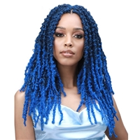 Glamourtress, wigs, weaves, braids, half wigs, full cap, hair, lace front, hair extension, nicki minaj style, Brazilian hair, crochet, hairdo, wig tape, remy hair, Lace Front Wigs, Bobbi Boss African Roots Crochet Braid - CALIF. BUTTERFLY LOCS 14 3X