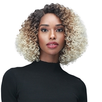 "Glamourtress, wigs, weaves, braids, half wigs, full cap, hair, lace front, hair extension, nicki minaj style, Brazilian hair, crochet, wig tape, remy hair, Lace Front Wigs, Bobbi Boss Synthetic Curl Pop 4"" Deep Part Lace Wig - MLF490 NINIAN"