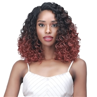 "Glamourtress, wigs, weaves, braids, half wigs, full cap, hair, lace front, hair extension, nicki minaj style, Brazilian hair, crochet, wig tape, remy hair, Lace Front Wigs, Bobbi Boss Synthetic Curl Pop 4"" Deep Part Lace Wig - MLF492 EAVAN"