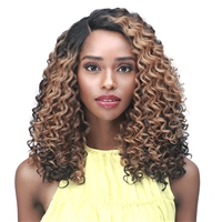"Glamourtress, wigs, weaves, braids, half wigs, full cap, hair, lace front, hair extension, nicki minaj style, Brazilian hair, crochet, wig tape, remy hair, Lace Front Wigs, Bobbi Boss Synthetic Curl Pop 4"" Deep Part Lace Wig - MLF493 NEAH"