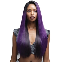 Glamourtress, wigs, weaves, braids, half wigs, full cap, hair, lace front, hair extension, nicki minaj style, Brazilian hair, crochet, hairdo, wig tape, remy hair, Lace Front Wigs, Bobbi Boss Human Hair Blend 13X4 Swiss Lace Front Wig - MBLF180 DAYANA