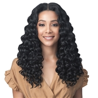 Glamourtress, wigs, weaves, braids, half wigs, full cap, hair, lace front, hair extension, nicki minaj style, Brazilian hair, crochet, hairdo, wig tape, remy hair, Bobbi Boss Synthetic 13x7 Glueless Extended HD Lace Front Wig - MLF459 LOURDES