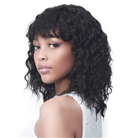 Glamourtress, wigs, weaves, braids, half wigs, full cap, hair, lace front, hair extension, nicki minaj style, Brazilian hair, crochet, hairdo, wig tape, remy hair, Lace Front Wigs, Bobbi Boss MediFresh 100% Human Hair Wet & Wavy Wig - MH1301 ADALYN