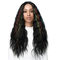 "Glamourtress, wigs, weaves, braids, half wigs, full cap, hair, lace front, hair extension, nicki minaj style, Brazilian hair, crochet, wig tape, remy hair, Lace Front Wigs, Bobbi Boss Synthetic 4"" Deep Part Lace Front Wig - MLF536 TALISA"