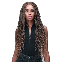 "Glamourtress, wigs, weaves, braids, half wigs, full cap, hair, lace front, hair extension, nicki minaj style, Brazilian hair, crochet, wig tape, Bobbi Boss Synthetic 4.5"" HD Deep Part Braided Lace Front Wig - MLF620 NU LOCS FRENCH TIPS 30"