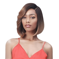 Glamourtress, wigs, weaves, braids, half wigs, full cap, hair, lace front, hair extension, nicki minaj style, Brazilian hair, crochet, hairdo, wig tape, remy hair, Lace Front Wigs, Bobbi Boss Synthetic HD Deep Lace Part Wig - MLF543 LATITIA