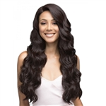 Glamourtress, wigs, weaves, braids, half wigs, full cap, hair, lace front, hair extension, nicki minaj style, Brazilian hair, crochet, hairdo, wig tape, remy hair, Lace Front Wigs, Bobbi Boss Human Hair Blend 360 Swiss Lace Wig - MBLF260 RAE