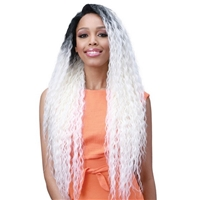 Glamourtress, wigs, weaves, braids, half wigs, full cap, hair, lace front, hair extension, nicki minaj style, Brazilian hair, crochet, hairdo, wig tape, remy hair, Lace Front Wigs, Bobbi Boss Human Hair Blend Miss Origin 13x6 Swiss Lace Frontal Wig - MOGL