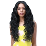 Glamourtress, wigs, weaves, braids, half wigs, full cap, hair, lace front, hair extension, nicki minaj style, Brazilian hair, crochet, hairdo, wig tape, remy hair, Lace Front Wigs, Bobbi Boss Human Hair Blend 13X6 Frontal Lace Wig - MOGLWBO26 BODY WAVE 26