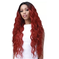 Glamourtress, wigs, weaves, braids, half wigs, full cap, hair, lace front, hair extension, nicki minaj style, Brazilian hair, crochet, hairdo, wig tape, remy hair, Lace Front Wigs, Bobbi Boss Human Hair Blend 13X6 Frontal Lace Wig - MOGLWBO32 BODY WAVE 32