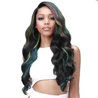 Glamourtress, wigs, weaves, braids, half wigs, full cap, hair, lace front, hair extension, nicki minaj style, Brazilian hair, crochet, hairdo, wig tape, remy hair, Lace Front Wigs, Bobbi Boss Human Hair Blend 13x7 Lace Frontal Wig - MBLF004 LONDON