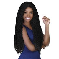 Glamourtress, wigs, weaves, braids, half wigs, full cap, lace front, hair extension, Brazilian hair, crochet, hairdo, wig tape, remy hair, Lace Front Wigs, Bohemian Natural Hairline Premium Braid Lace Wig - Goddess Braid Wig
